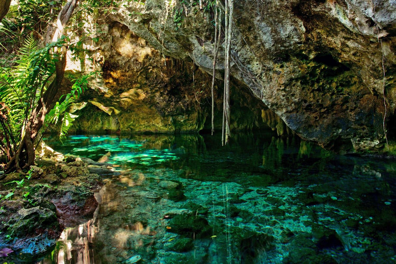 Meksika'daki Gran Cenote