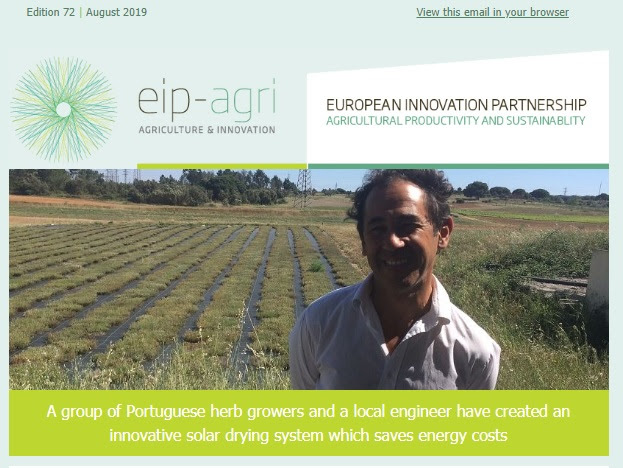 Image shows masthead of EIP-AGRI newsletter