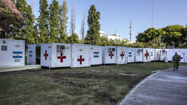 Argentina recebe doação de 3 hospitais de campanha dos EUA para enfrentar pandemia