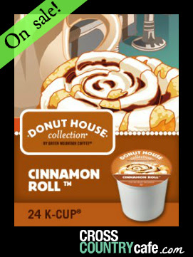 Donut House Collection Cinnamon Roll Keurig K-cup coffee