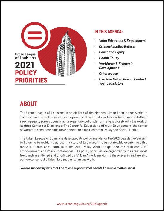 Urban League Louisiana - 2021_Policy_Priorities
