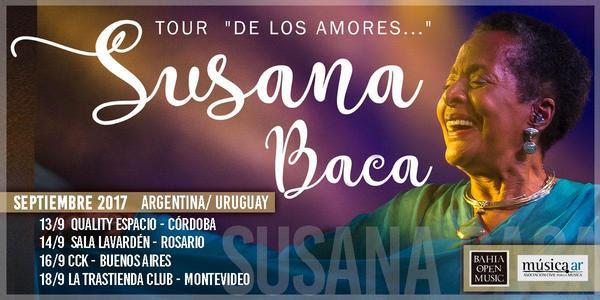 """SUSANA BACA presenta """"De los Amores"""" @ Sala Lavardén"""