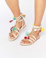 ASOS FERA Novelty Pom Sandals