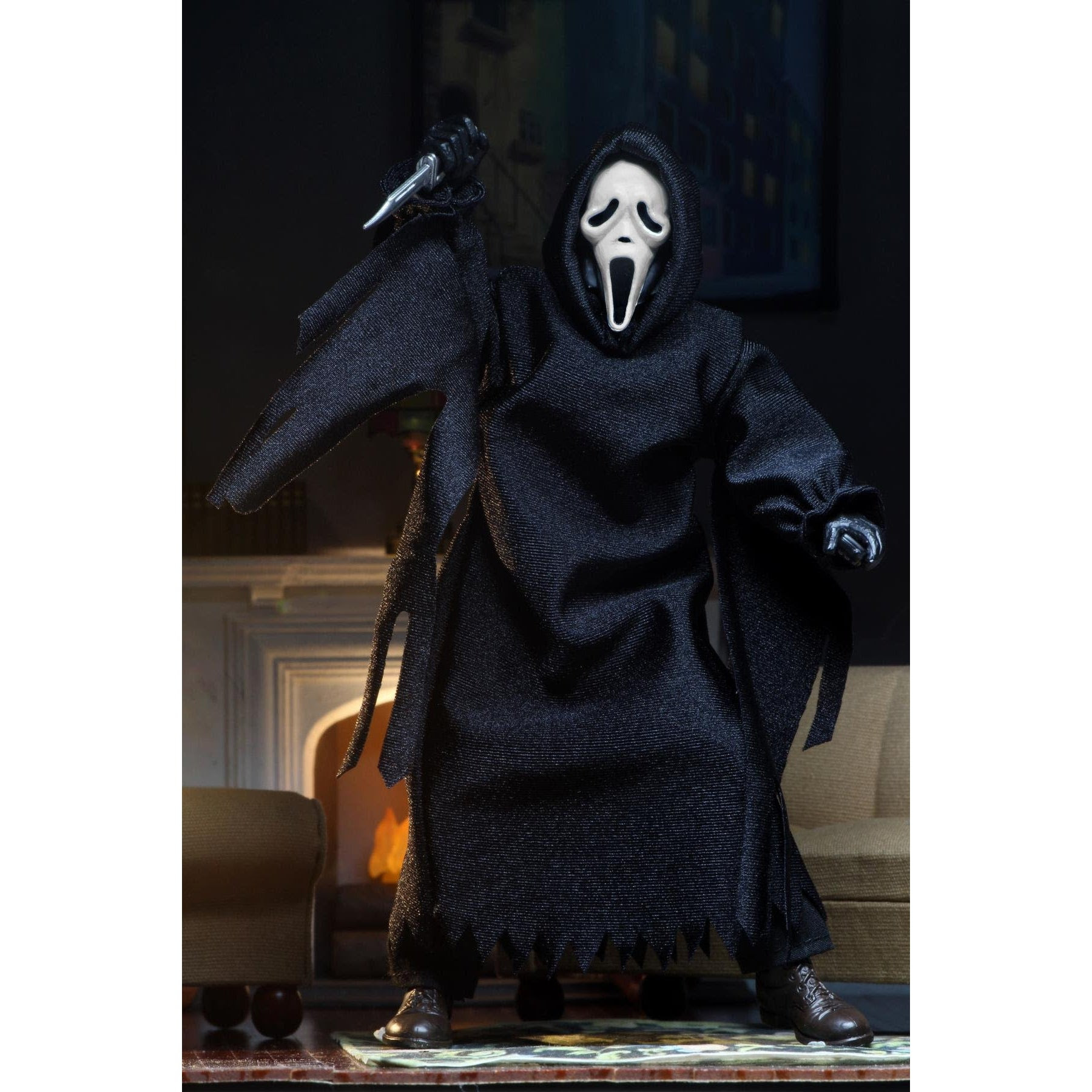 """Image of Ghostface – 8"""" Clothed Action Figure – Ghostface (Updated) - JULY 2020"""