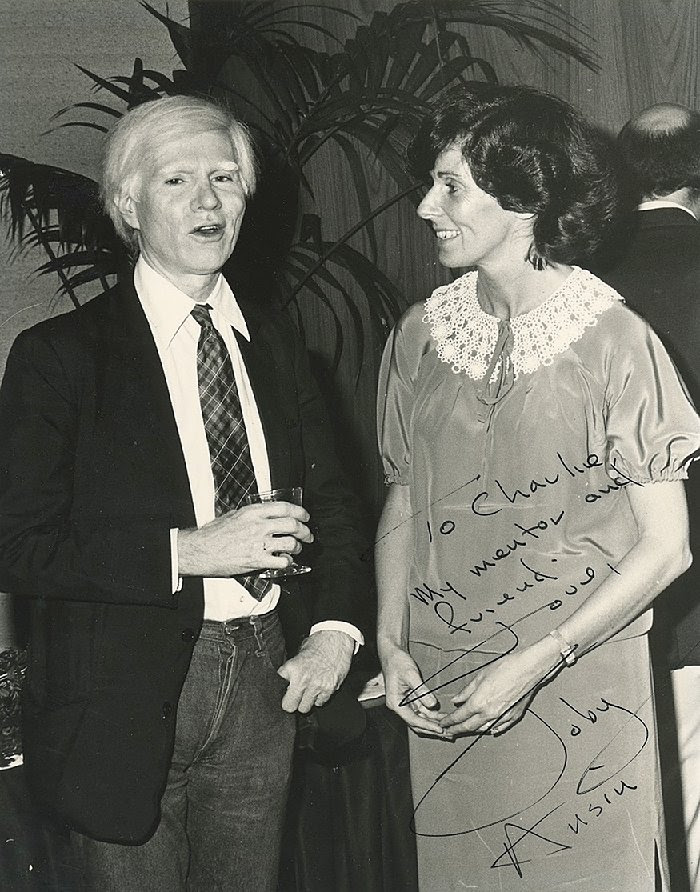 Andy Warhol and Toby Ansin
