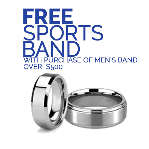 Free Sports Band with men's band over $500
