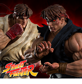 STREET FIGHTER RYU STATUES