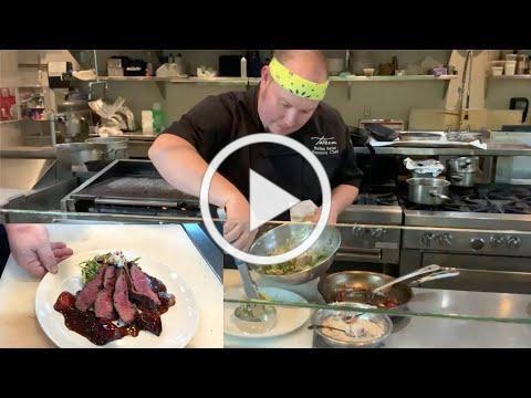 Peppercorn-Crusted Flat Iron Steak