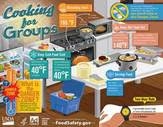 Infographic on keeping foods at safe temperatures
