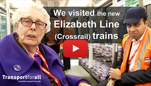 Print screen of the Video. It shows 2 TfA member in the new Crossrail train