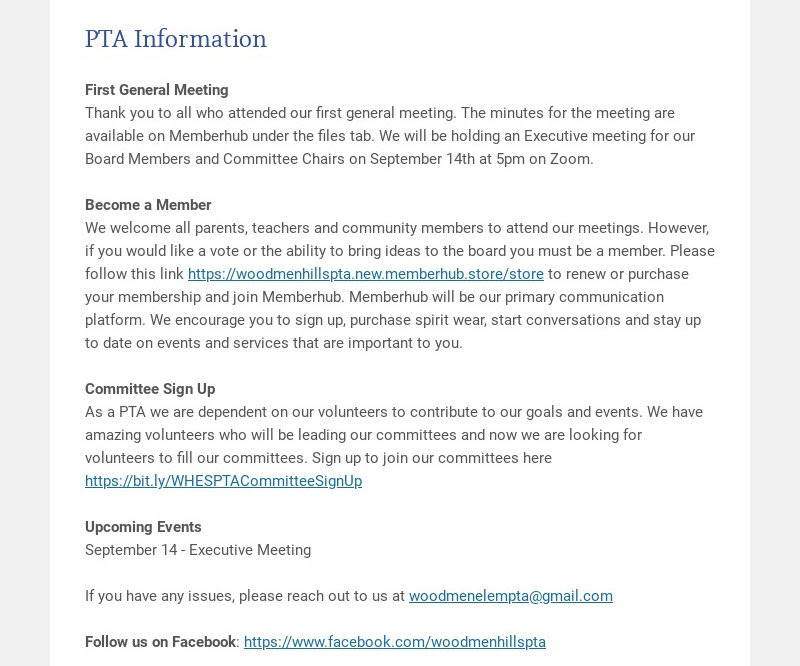 PTA Information