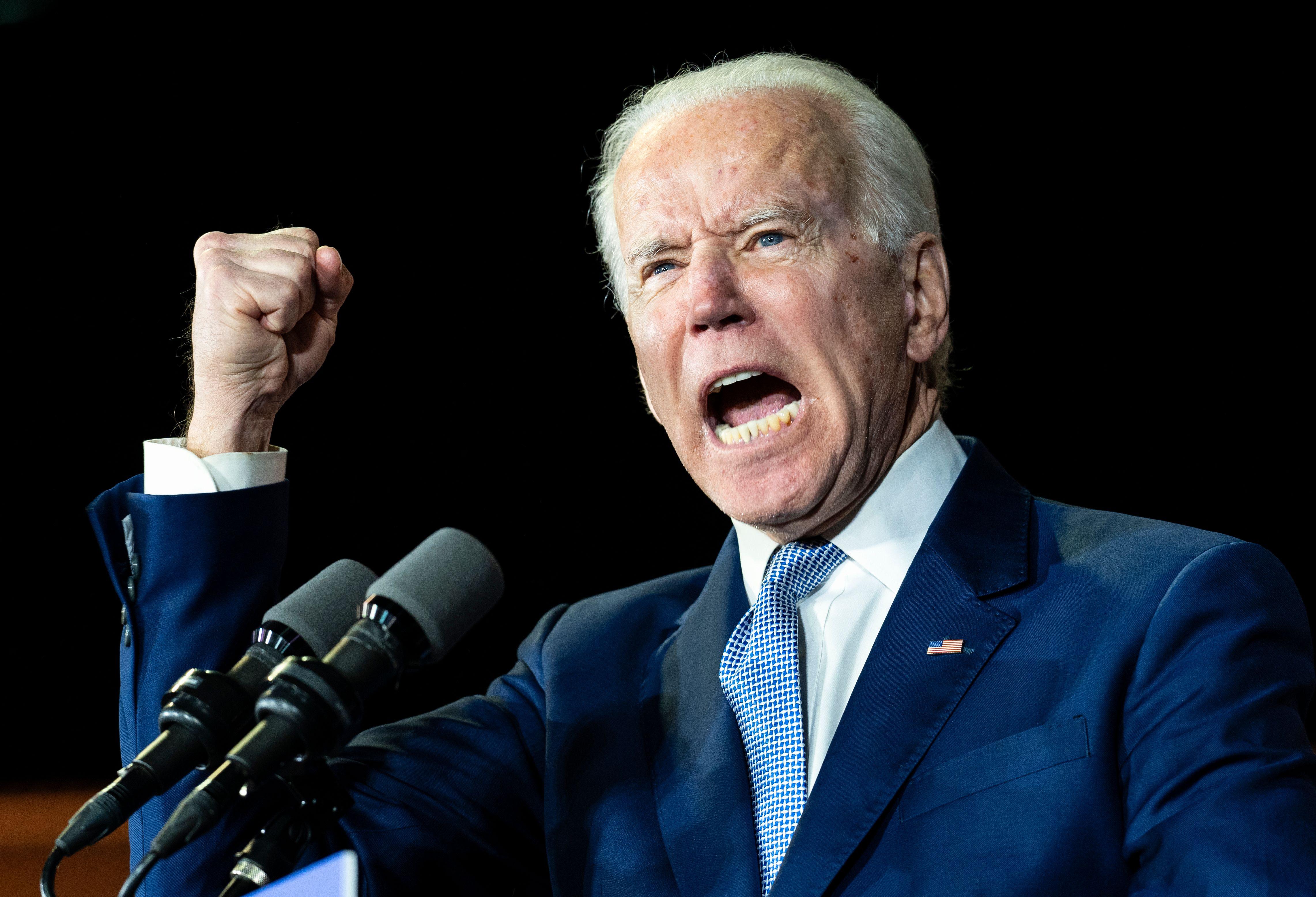 Joe Biden angry
