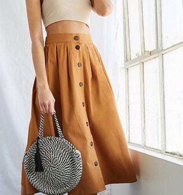 Canola Button Skirt