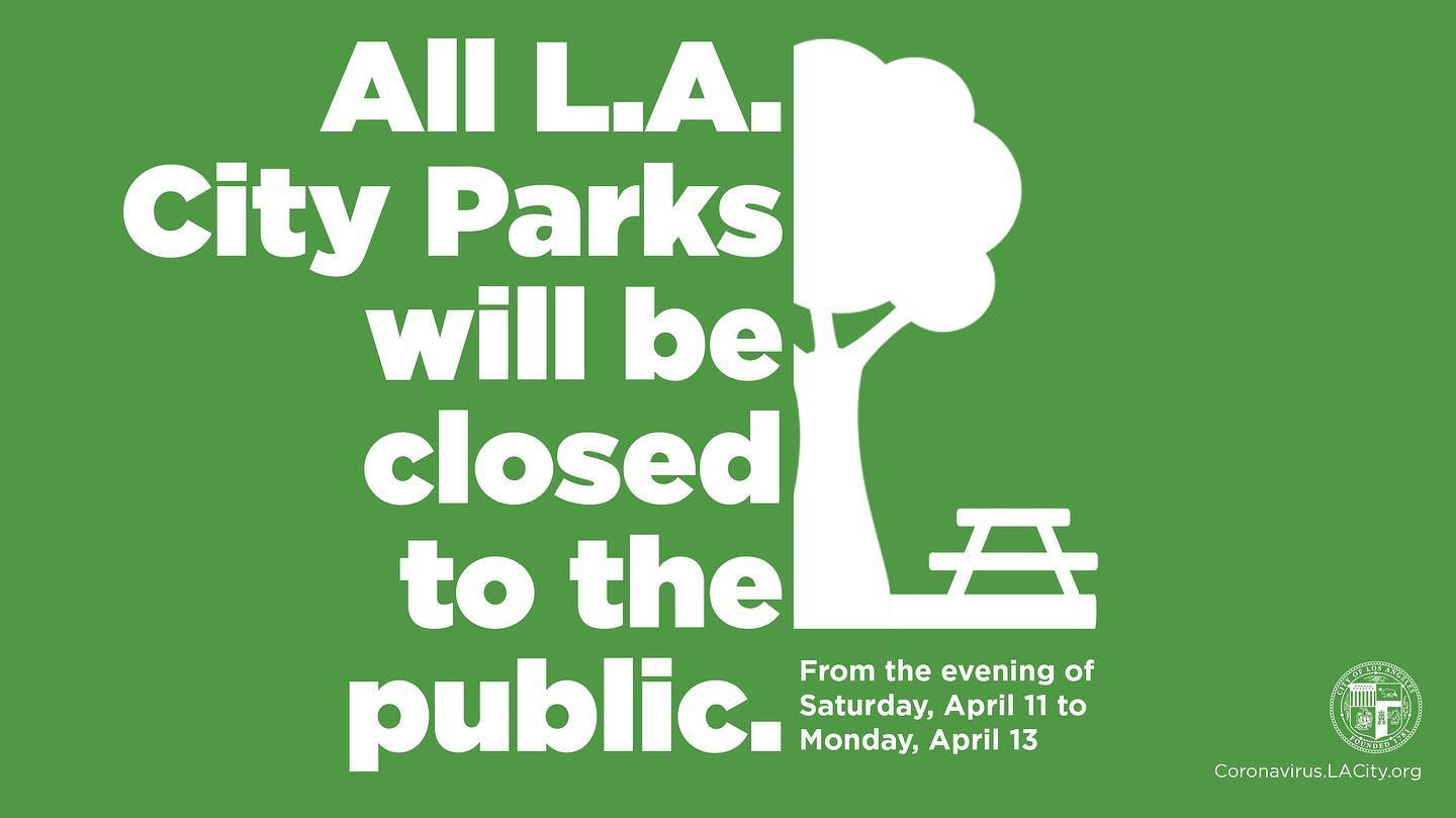 All City Parks Closed Easter Sunday English