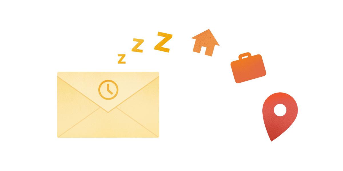 Inbox ürünündeki Ertele özelliğine ilişkin resim