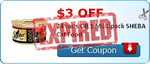 $3.00 off 24 cans OR 1 Multipack SHEBA Cat Food