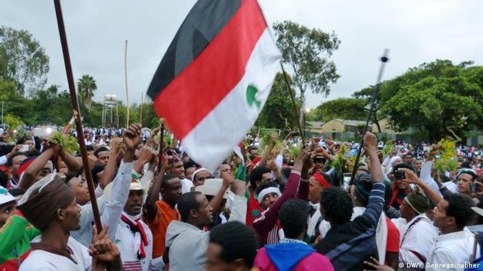 Äthiopien Irreecha Feierlichkeiten (DW/Y. Gebregzihabher)