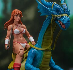 Golden Axe Tyris Flare and Blue Dragon 1/12 Scale Figure Set