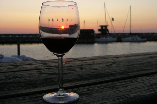 Port wine by water