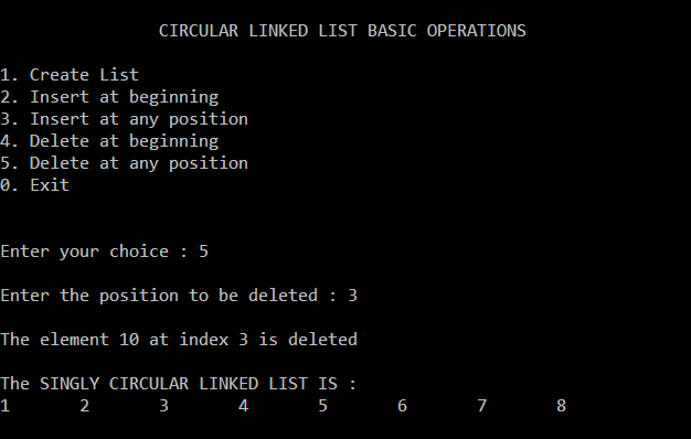 circular-singly-linked-list-deletion-given-position