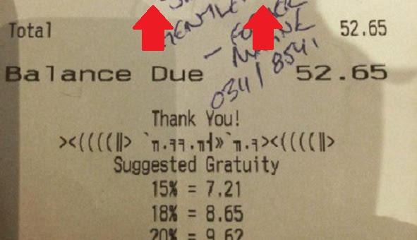 Soldiers Receive Restaurant Bill Then Find This SHOCKING Note Written On Receipt