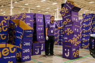Jet.com boxes wait to be packed for shipping in Swedesboro, N.J.