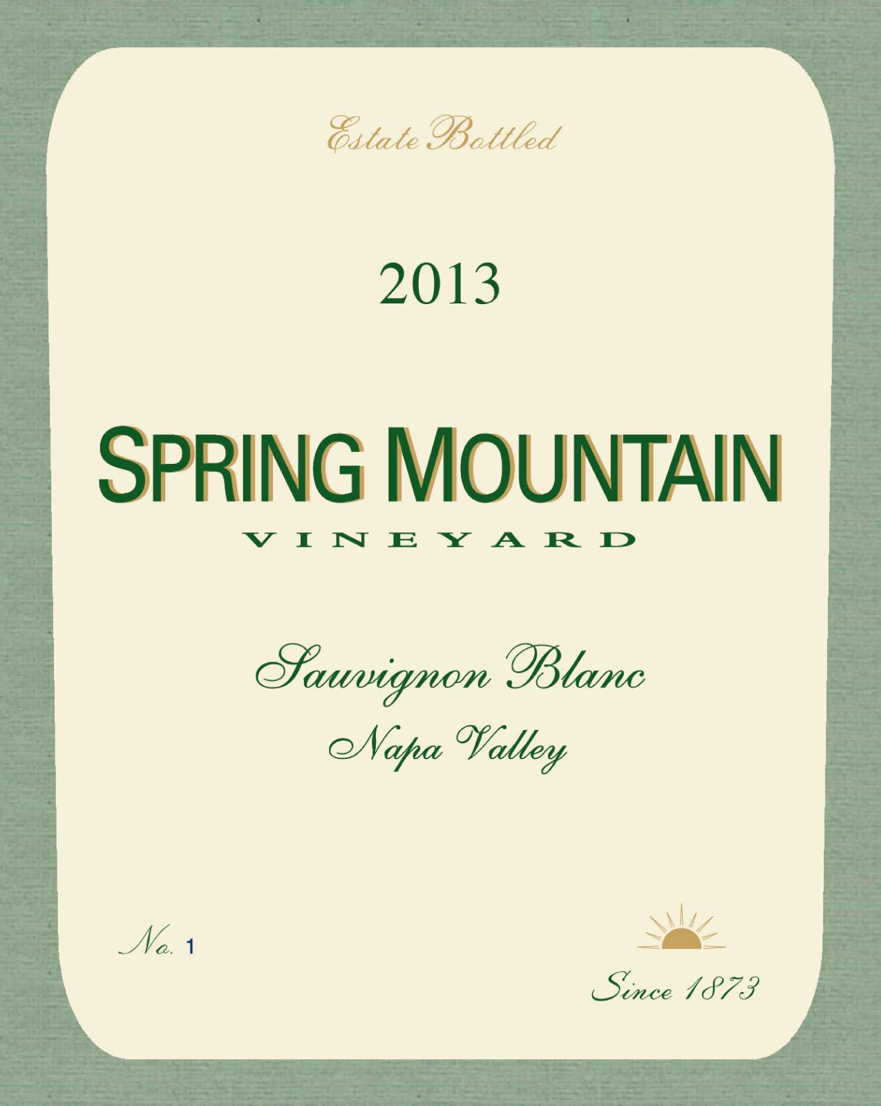 Spring Mountain Vineyard Sauvignon Blanc 2013