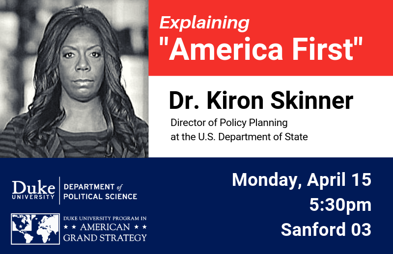 """Dr. Kiron Skinner in a conversation examining """"America First"""" @ Sanford 03"""