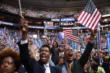 A section of the crowd at the Democratic National Convention in Philadelphia in July.