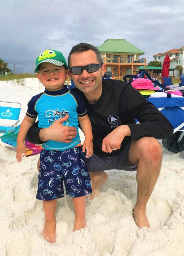 Dr. Alex & Daniel at the beach