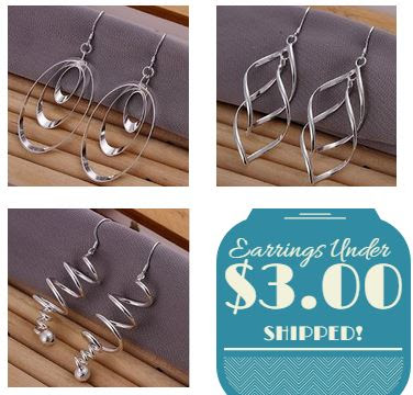 Silver Dangle Earrings Under $...