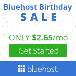 Only $2.95/month for 36 months Basic Plan at Bluehost.com