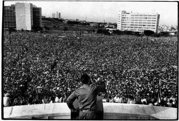 Fidel en la Primera Declaración de La Habana. Foto: Raúl Corrales