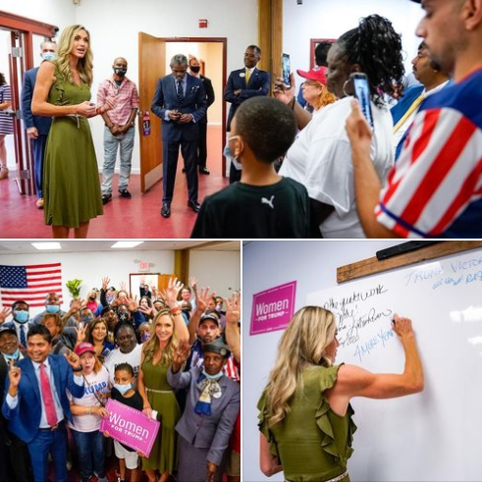 Lara Trump visited the Black Voices for Trump Community Center in PA