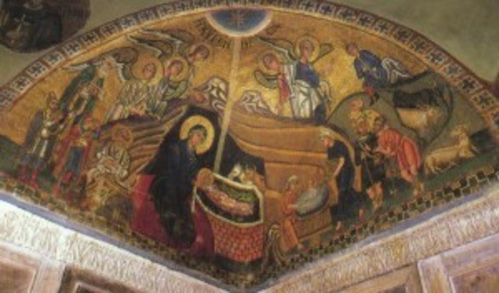 Мозаика собора монастыря Осиос Лукас в Фокиде (Греция), XI в.