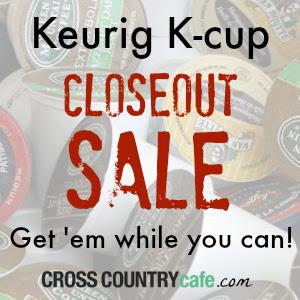 Keurig K-cup closeout sale!