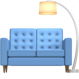 couch and lamp