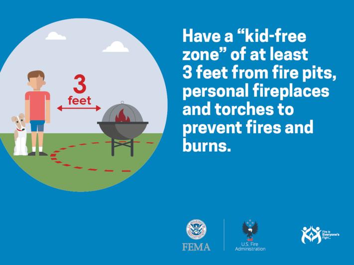 three feet child safety zone