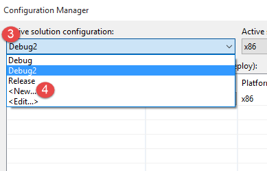 Create a new build configuration