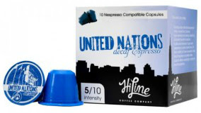 United Nations decaf Nespresso compatible coffee pods