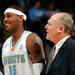 Carmelo Anthony, left, Coach George Karl and the Nuggets lost in six games to the eventual champion Lakers in the Western Conference finals in 2009.