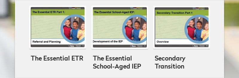 The Essential ETR The Essential School-Aged IEP Secondary Transition