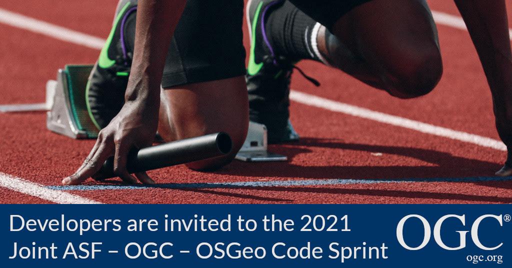 Banner announcing 2021 Joint ASF – OGC – OSGeo Code Sprint