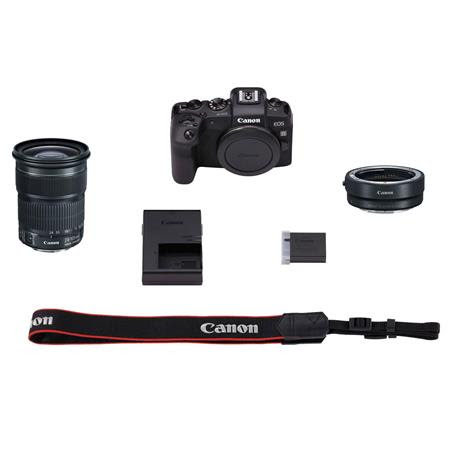 EOS RP Mirrorless Digital Camera with Canon EF 24-105mm f/3.5-5.6 IS STM Lens and Mount Ad