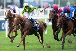 Sealiway wins the Champion Stakes at Ascot Racecourse