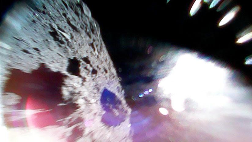 Dos sondas japonesas envían las primeras imágenes desde el asteroide Ryugu (FOTOS)