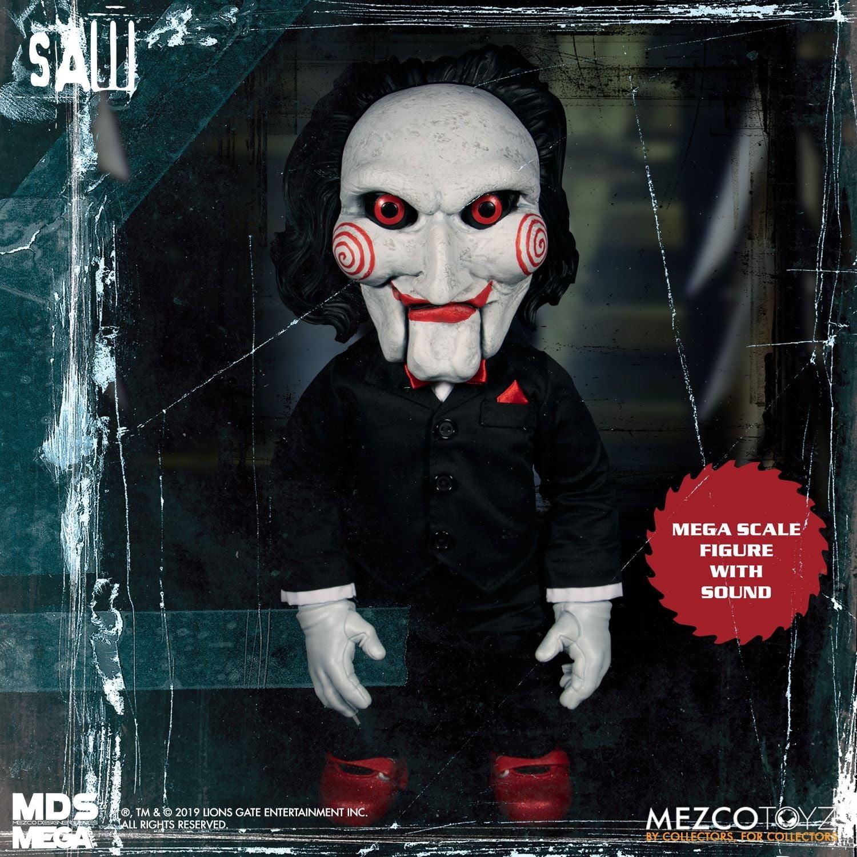 "Image of Saw: Mezco Designer Series Mega Scale 15"" Talking Billy"