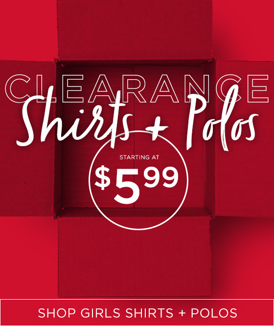 Clearance Shirts And Polos Shop Girls