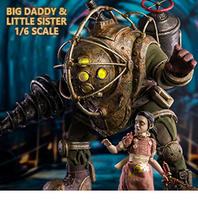 BIOSHOCK BIG DADDY & LITTLE SISTER 1/6 SCALE FIGURE SET