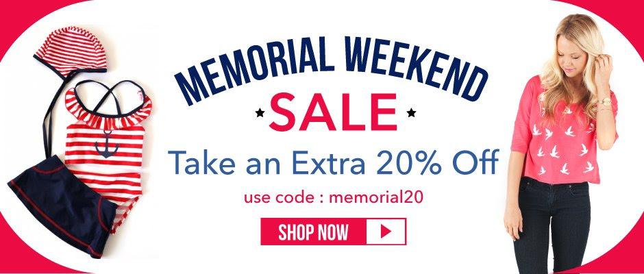 Eleventh Avenue Memorial Day Sale